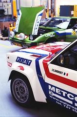 Rally car Fiat 131 Abarth (Analog World Thru My Lenses) Tags: nikonf65 nikkor50mmf18d fujicolor200 march 2018 hrsmp fiat131 abarth rally rallye historicrally mazda rx7 mirafiori fiat