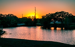 Sunset on the park river (MJ6606) Tags: flowersplants spring park landscape evening florida nature trees sunset river water