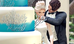 21. Landra & Seppu - Of Course, Cake (Nora Mae Julian) Tags: wedding weddings weddingsbyleona serendipityweddings serendipity ceremony love together germany secondlife sl candid posed edited photoshop virtual