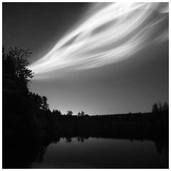 Aurora (picturedevon.co.uk) Tags: dartmoor devon night dark stars astrophotography aurora borealis bw blackandwhite mono le lake landscape greyscale wwwpicturedevoncouk manip