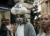 Rabbit Hole 146/156 (markfly1) Tags: picadilly circus london west end man dressed up costume fancy dress rabbit bugs bunny eating carrot funny scene candid street image photo nikon d750