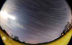No Tiangong Re-Entry Tonight (Radical Retinoscopy) Tags: tiangong1 fisheye canon815mmf4l canon815mm lens spring easter lancaster pa pennsylvania astronomy astrophotography startrail starstax canon