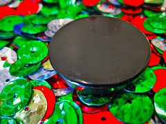 """All buttoned up"" (Circles) Macro Mondays (seanwalsh4) Tags: macromondays circles blackbutton colourfulsequins allbuttonedup hmm seanwalsh macrophotography canon bristol"