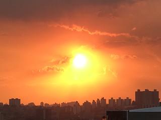 Sunset over my town on Friday 13th, São Caetano do Sul, SP, Brazil.