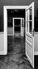 Orientation. (Canad Adry) Tags: musée wiertz bruxelles sigma dn art 19mm f28 belgium sony alpha a6000 af e mount third party lens door perspective symetrie black white noir et blanc indoor room