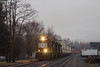 Knocking the Mist Back (nrvtrains) Tags: christiansburg christiansburgdistrict 233 overcast cambriast intermodal norfolksouthern cambria virginia unitedstates us
