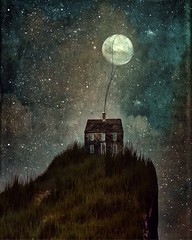 (Erika C. Brothers) Tags: surrealist stars moon landscape house fantasy bookcover storybook storytelling