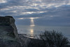 Searching (Shastajak) Tags: sunlight sunshine clouds beam searchlight cliffs hastingscountrypark ecclesbourneglen beach englishchannel