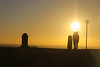 The Stone of destiny (A Costigan (Off for a while)) Tags: hilloftara liafail stoneofdestiny meath ireland irish sunset silhouettes