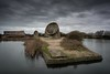 Greatstone Sound Mirrors (James Waghorn) Tags: sigma1020f456 soundmirrors nikon d7100 topazclarity greatstone nd1000 water nisi longexposure kent winter clouds concrete england