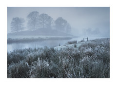 Morning Blue (Matt Oliver.) Tags: landscape lake frosty district hoar frost morning canon