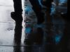fast steps (Cosimo Matteini) Tags: cosimomatteini ep5 olympus pen london m43 mzuiko45mmf18 shoreditch oldstreet steps rain paving silhouette faststeps