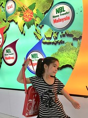 Esme at Dhaka airport (olive witch) Tags: 2017 abeerhoque bangladesh bd dec17 december dhaka fem indoors kid night
