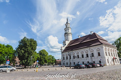 Town Hall in Kaunas (Jacek Kurek) Tags: litwa lithuania lietuva summer europe sky blue clouds paint wideangle cityscape city citycenter citycentre oldtown townhall ratusz mainmarketsquare mainsquare mainmarket trip journey travel