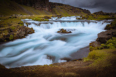Hladkou Vodu (Zach Finn) Tags: longexposure water river smoothwater mountains clouds grey blue