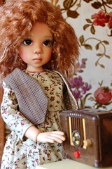 Time to Change the Station (Emily1957) Tags: radioevangelinakayewiggsbjd dolls doll toys toy light naturallight nikond40 nikon kitlens frut444