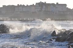 Wind on the coast (Kirkleyjohn) Tags: water waves lowestoft lowestoftbeach sea seashore seascape