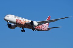 VH-ZND Qantas Boeing B787-9 Dreamliner (johnedmond) Tags: perth ypph westernaustralia qantas boeing 787 7879 aviation airliner aircraft dreamliner sony ilce3500 sel55210 55210mm airplane sky