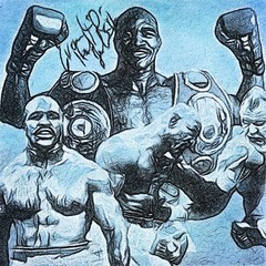 12 - Evander Holyfield (Bob Smerecki) Tags: smackman snapnpiks robert bob smerecki sports art digital artwork paintings illustrations graphics oils pastels pencil sketchings drawings virtual painter 6 watercolors smart photo editor colorization akvis sketch drawing concept designs gmx photopainter 28 draw hollywood walk fame high contrast images movie stars signatures autographs portraits people celebrities vintage today metamorphasis 002 abstract melting canvas baseball cards picture collage jixipix fauvism infrared photography colors negative color palette seeds university michigan football ncaa mosaic