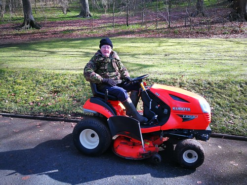 Mike and his ride on mower