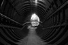 The Light at the End of the Tunnel (steve_whitmarsh) Tags: london euston tunnel abandoned derelict station tube underground bw monochrome blackandwhite eustonstation subway