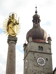 IMG_3846 Waidhofen an der Ybbs, 13.10.2007 (MQ73) Tags: 13102007 2007 waidhofenanderybbs niederösterreich loweraustria austria österreich altstadt kindheitserinnerungen oldtown kirche church tower säule column