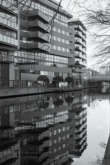 Canal Side (The Gadget Photographer) Tags: canals kodaktrix analogue regentscanal water london winter2018 rivers reflection iso400 waterways ilfrosol3 canon n500 film tobyhetherington©2018 england unitedkingdom gb