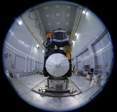 Sentinel-3B being mated with the Rockot adapter (europeanspaceagency) Tags: esa europeanspaceagency space universe cosmos spacescience science spacetechnology tech technology earthfromspace observingtheearth earthobservation satelliteimage copernicus sentinel sentinel3b sentinel3 russia plesetsk fisheyelens fisheye rockot космодром плесецк космодромплесецк