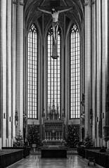 Heavy cross (Andreas Mezger - Photography) Tags: kirche city landshut church martinskirche sitting pray god religion cross heavy large high architecture architektur architecture• absolutearchitecture