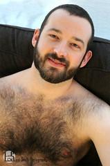 Jordan (Levi Smith Photography) Tags: shirtless hairy otter man men beard window armpit bear eyes handsome hot dudoir chest face hair good looking guy