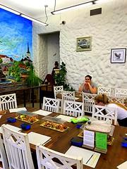 Tallinn, Old Town, Estonia. Cafe MaiasMokk. Marzipan Shop (dimaruss34) Tags: newyork brooklyn dmitriyfomenko image estonia svetlanafomenko tallinn oldtown cafemaiasmokk marzipan table chairs marzipanshop people