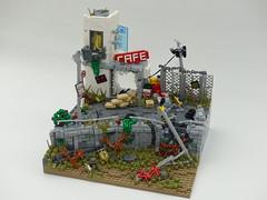 On Patrol - Landscape (robbadopdop) Tags: lego moc mecha mech military landscpae scifi apocalypse city war drone