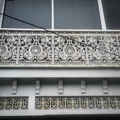 iron lace (AS500) Tags: stanmore terrace house iron lace lacework white intricate architecture detail