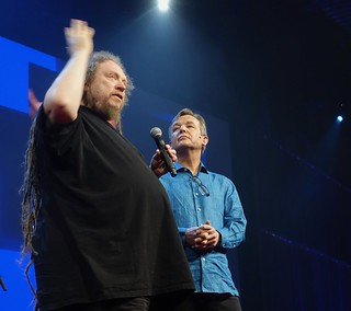 Jaron Lanier with Chris Anderson at TED2018