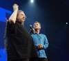 Jaron Lanier with Chris Anderson at TED2018 (jurvetson) Tags: stevejurvetson ted ted2018 vancouver brain spa jaron lanier with chris anderson social network manipulation facebook