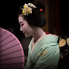 Impressions (byzanceblue) Tags: maiko geisha woman girl female beautiful gion kyoto dance kimono japanese traditional miyagawacho geiko beauty kanzashi formal 祇園 舞妓 とし恵美 京都 宮川町 black 花街 駒屋 新年 toshiemi white color colour flower nikkor background people photo d850