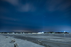 (thom1331) Tags: winter cold lake frozen snow stars art night