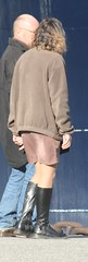 859 (SadCire) Tags: woman female frau femme mujer girl mädchen fille chica miniskirt minidress skirt dress boots street strabe rue calle candid sexy mature