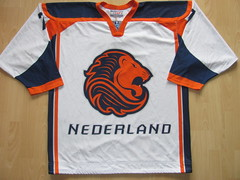 Netherlands Game Worn Jersey (kirusgamewornjerseys) Tags: iihf game worn jersey ice hockey wessel copier netherlands