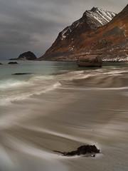 Lofoten Beaches (Bliss Photo) Tags: hauklandbeach lofoten moutains norway ocean winter ice seascape snow