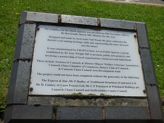Heritage - Queen's Square Island, Cannock - plaque