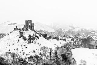 Winter at Corfe Castle