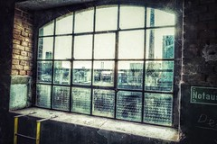 Windows... (hobbit68) Tags: fenster windows glas notausgang industrie industry old alt