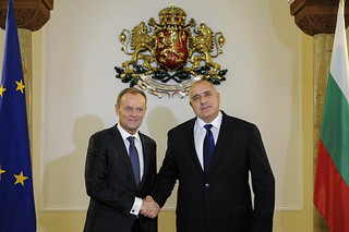 Visit of Donald Tusk the President of the European Council for the Inaugural ceremony for the Bulgarian Presidency of the Council of the EU on January 11, 2018 in Sofia, Bulgaria.