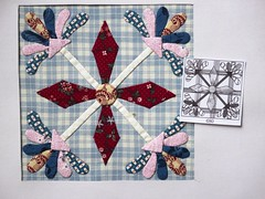 Chuck Nohara Blocks (ompompali Claudia) Tags: applique chucknohara patchwork handstitching