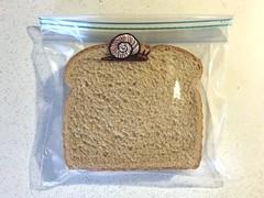 Snail (D Laferriere) Tags: birthday shell snail attleboro kenny laferriere sandwich bag art sharpie