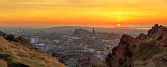The City of Edinburgh at Sunset (Reworked) (MilesGrayPhotography (AnimalsBeforeHumans)) Tags: deanvillage edinburgh scotland longexposure landscape city cityscape castle edinburghcastle pano panorama castlerock unesco sunset scottish landscapephotography sky skyline summer golden goldenhour