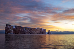The Orange Sunrise (Danny VB) Tags: rocherpercé orange sunrise rock rocher percé gaspésie québec canada winter snow cold canon 6d