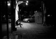 Night Tel Aviv (Valentine Kleyner) Tags: israel telaviv night film bw street