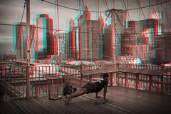 New York, New York (DDDavid Hazan) Tags: newyork ny nyc newyorkcity brooklyn brooklynbridge manhattan skyline bridge pushup exercise architecture city urban urbanlandscape sunrise anaglyph 3d bwanaglyph blackandwhiteanaglyph 3danaglyph 3dstereophotography redcyan redcyan3d stereophotography stereo3d streetphotography